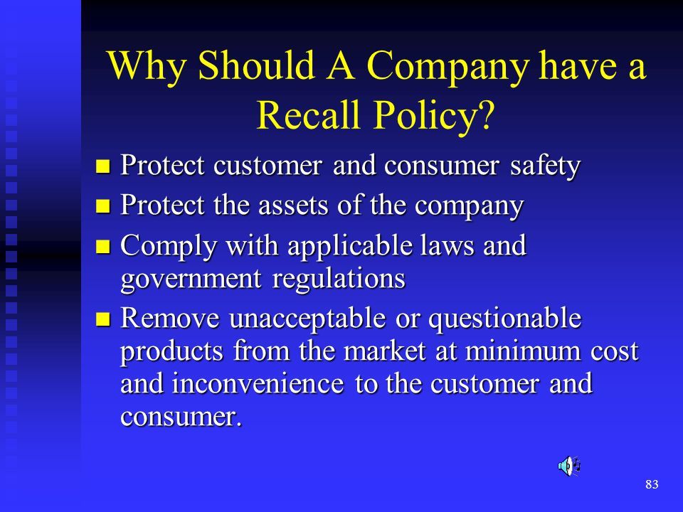 Why Should A Company have a Recall Policy