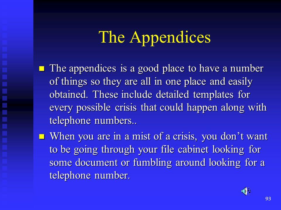 The Appendices