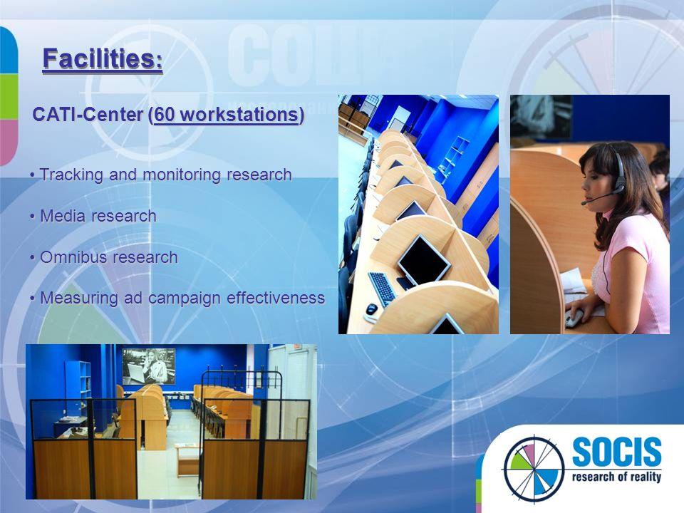Facilities: CATI-Center (60 workstations)