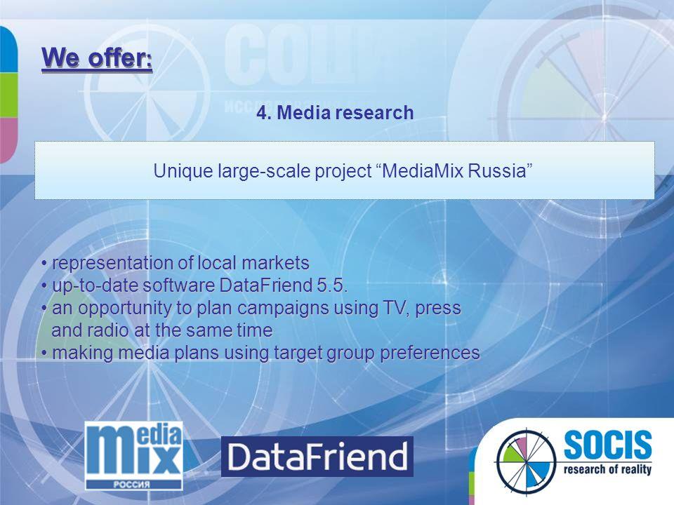 Unique large-scale project MediaMix Russia