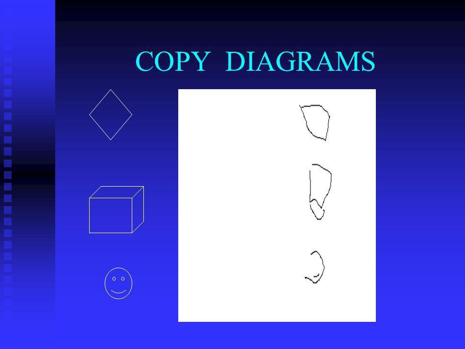 COPY DIAGRAMS