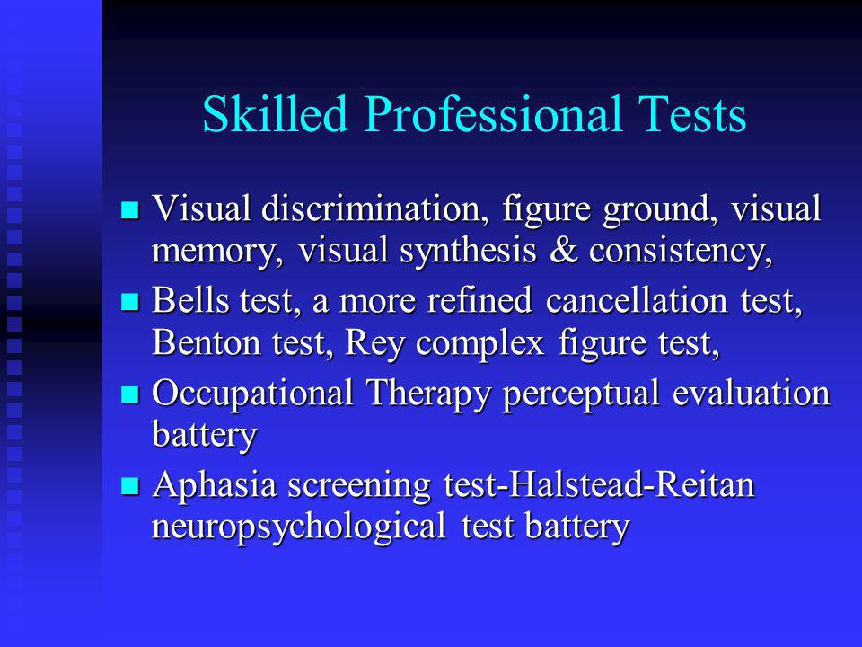 Skilled Professional Tests
