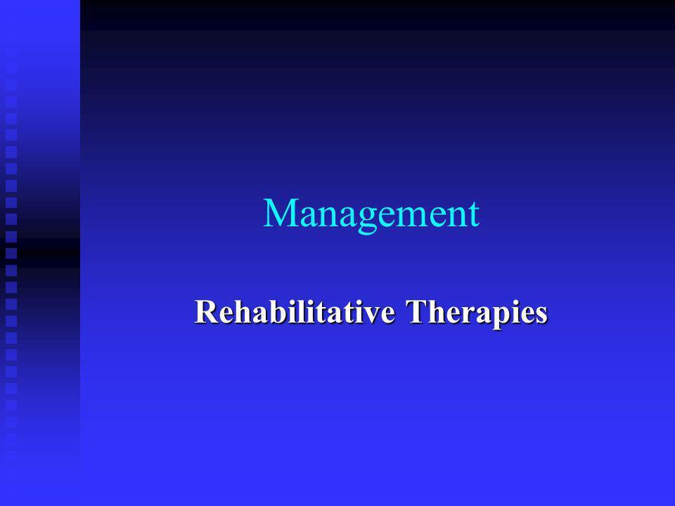 Rehabilitative Therapies