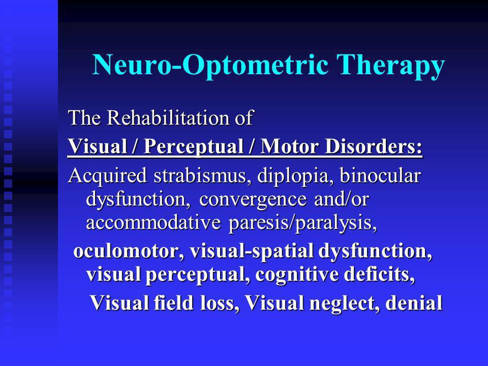 Neuro-Optometric Therapy