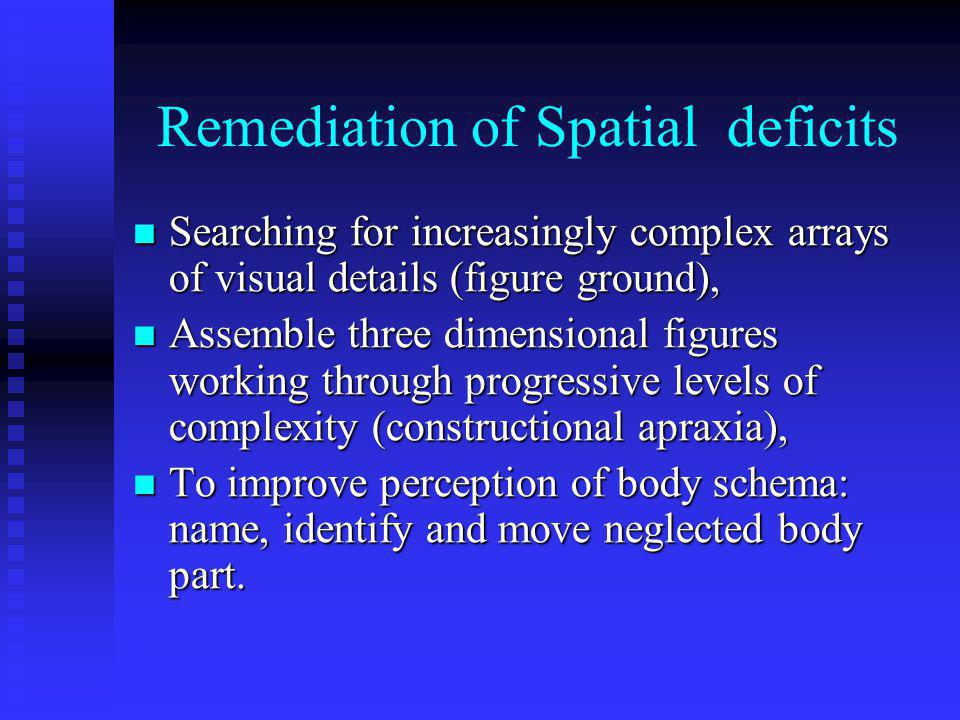 Remediation of Spatial deficits