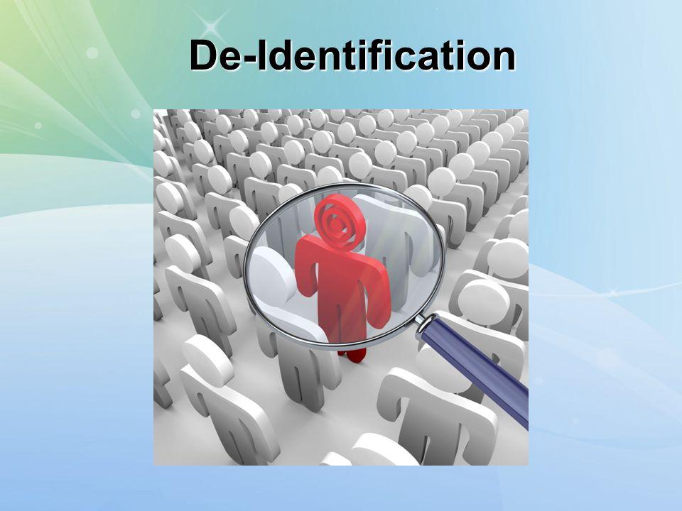 De-Identification