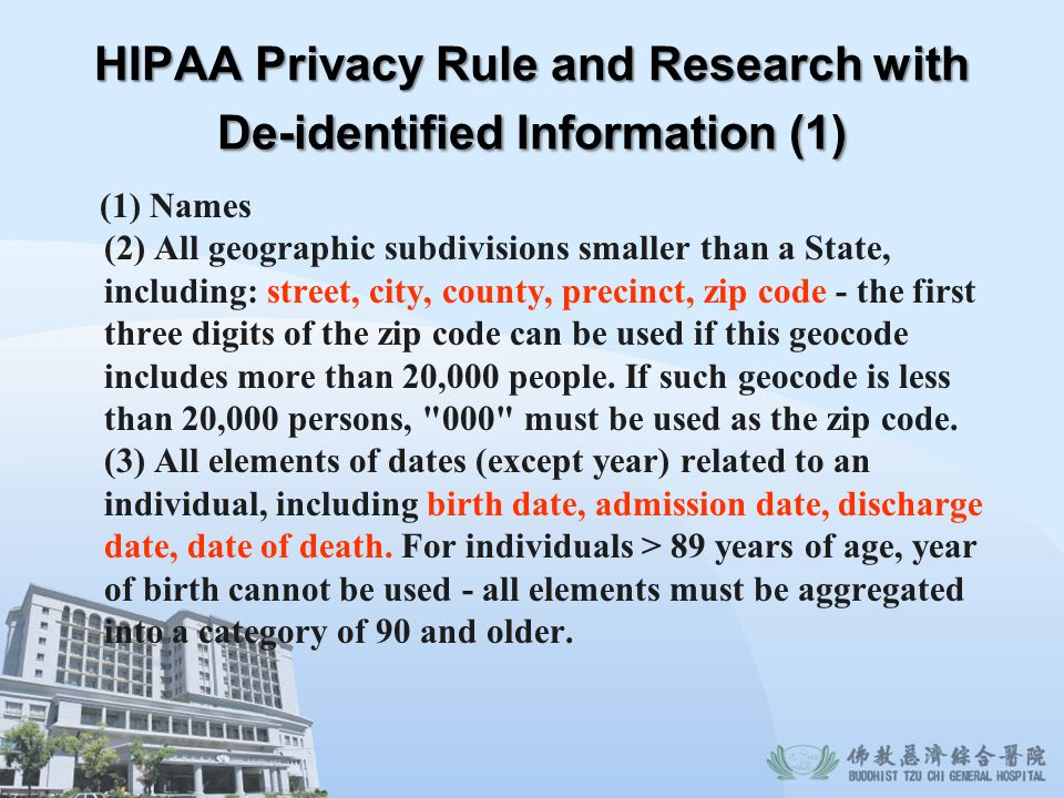 HIPAA Privacy Rule and Research with De-identified Information (1)