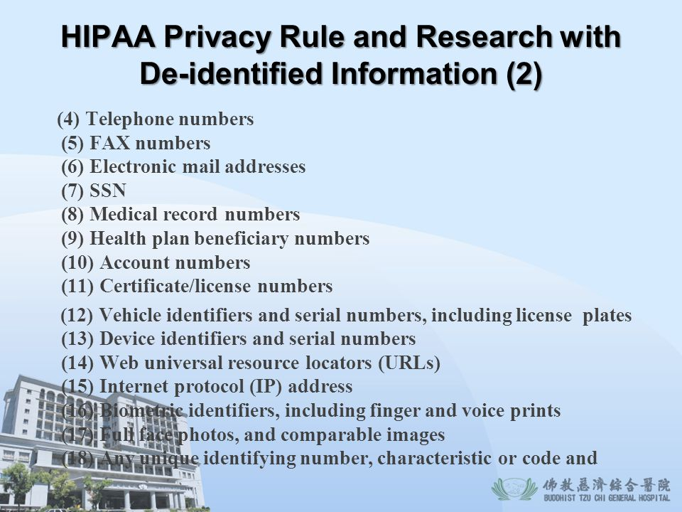 HIPAA Privacy Rule and Research with De-identified Information (2)