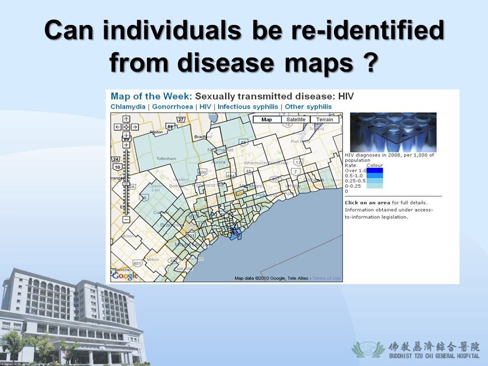 Can individuals be re-identified from disease maps
