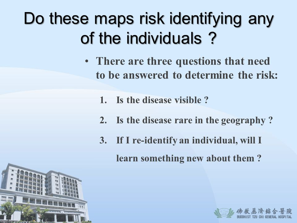 Do these maps risk identifying any of the individuals