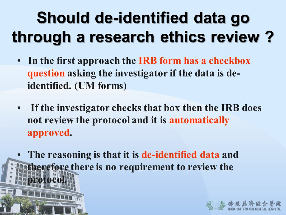 Should de-identified data go through a research ethics review