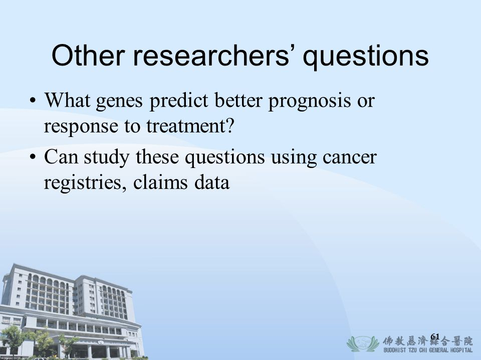 Other researchers' questions