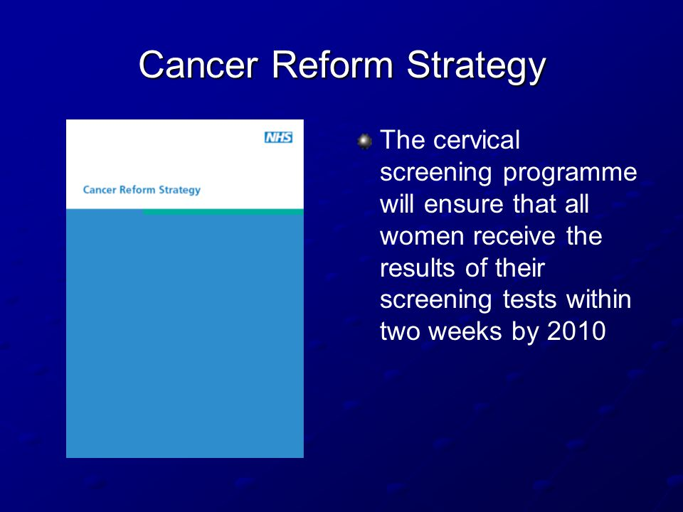 Cancer Reform Strategy
