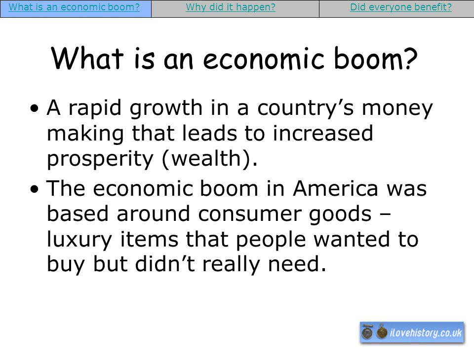 What is an economic boom