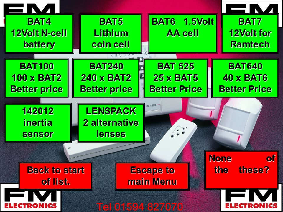 BAT4 12Volt N-cell battery LENSPACK 2 alternative lenses