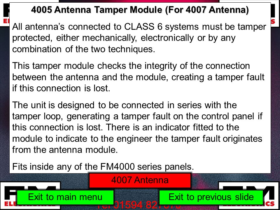 4005 Antenna Tamper Module (For 4007 Antenna)