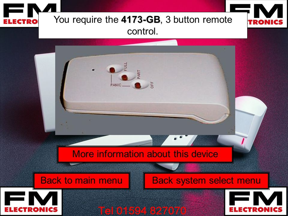 You require the 4173-GB, 3 button remote control.