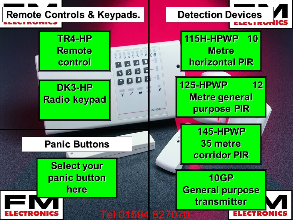 Remote Controls & Keypads. Detection Devices