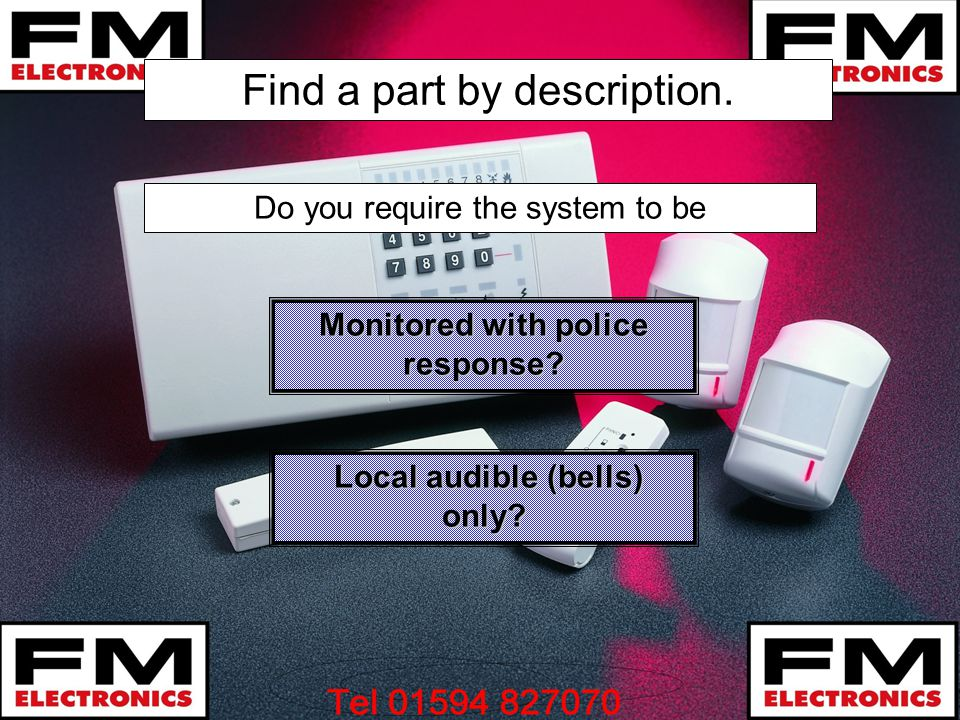 Monitored with police response Local audible (bells) only