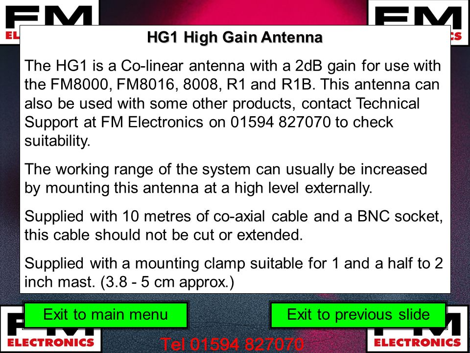 HG1 High Gain Antenna