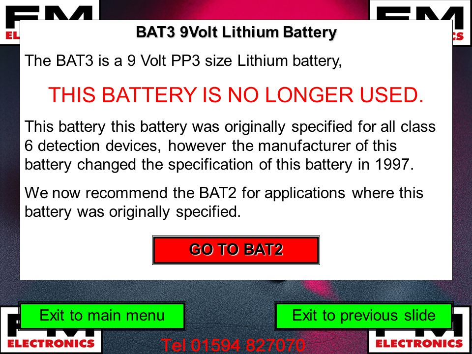 THIS BATTERY IS NO LONGER USED.
