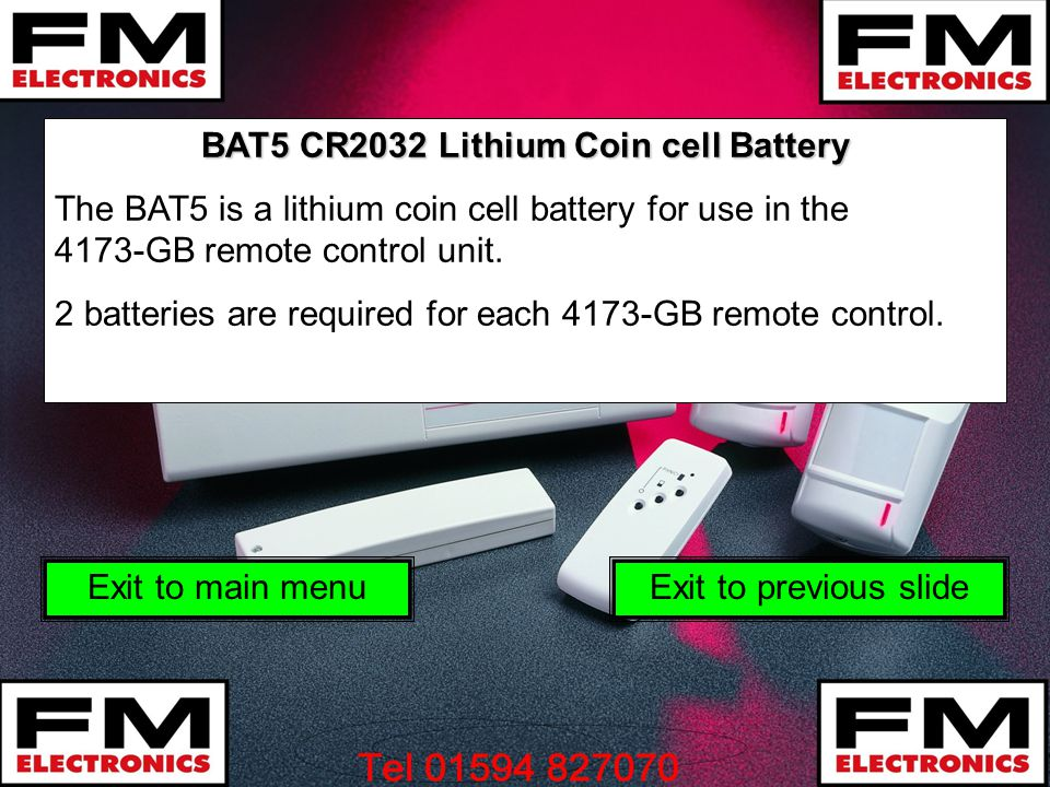 BAT5 CR2032 Lithium Coin cell Battery