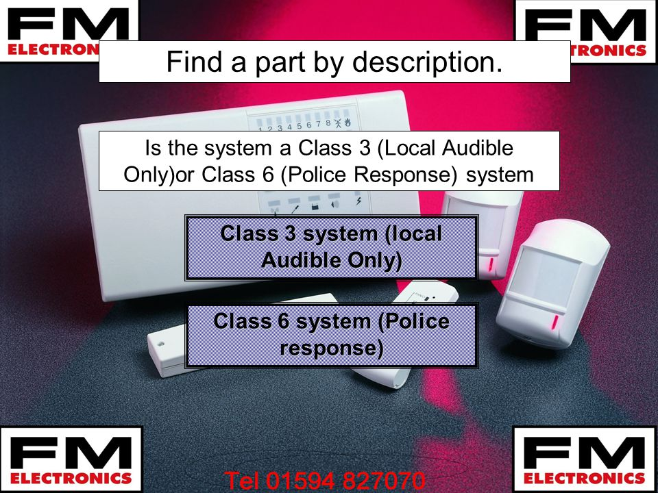 Class 3 system (local Audible Only) Class 6 system (Police response)