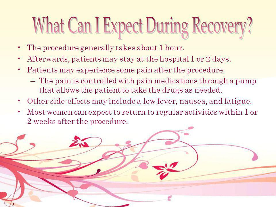 What Can I Expect During Recovery