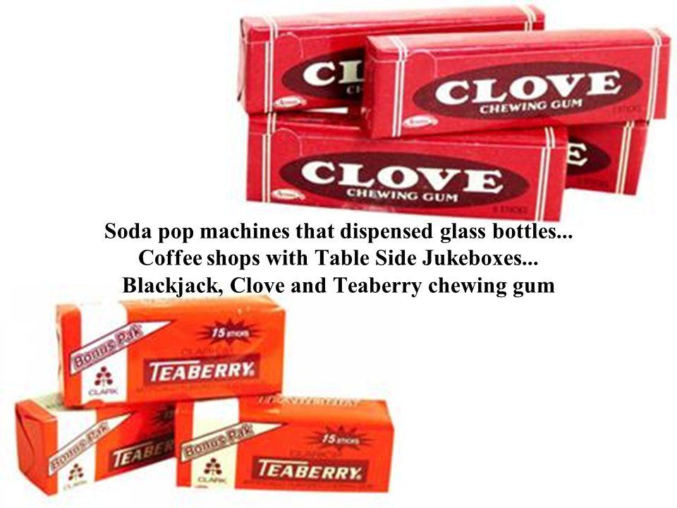 Soda pop machines that dispensed glass bottles