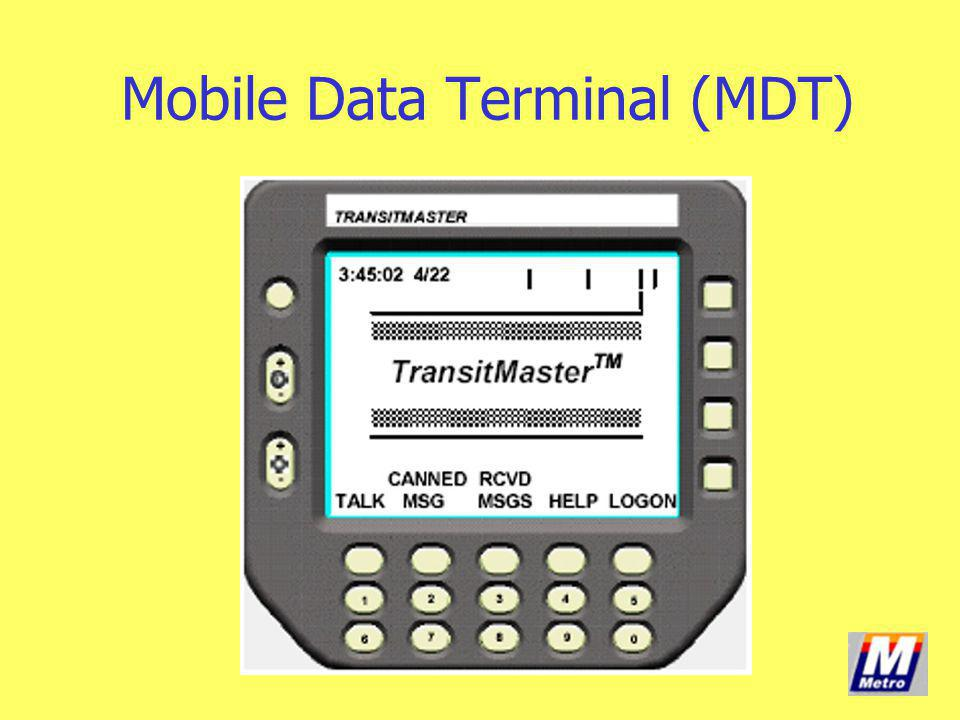 Mobile Data Terminal (MDT)
