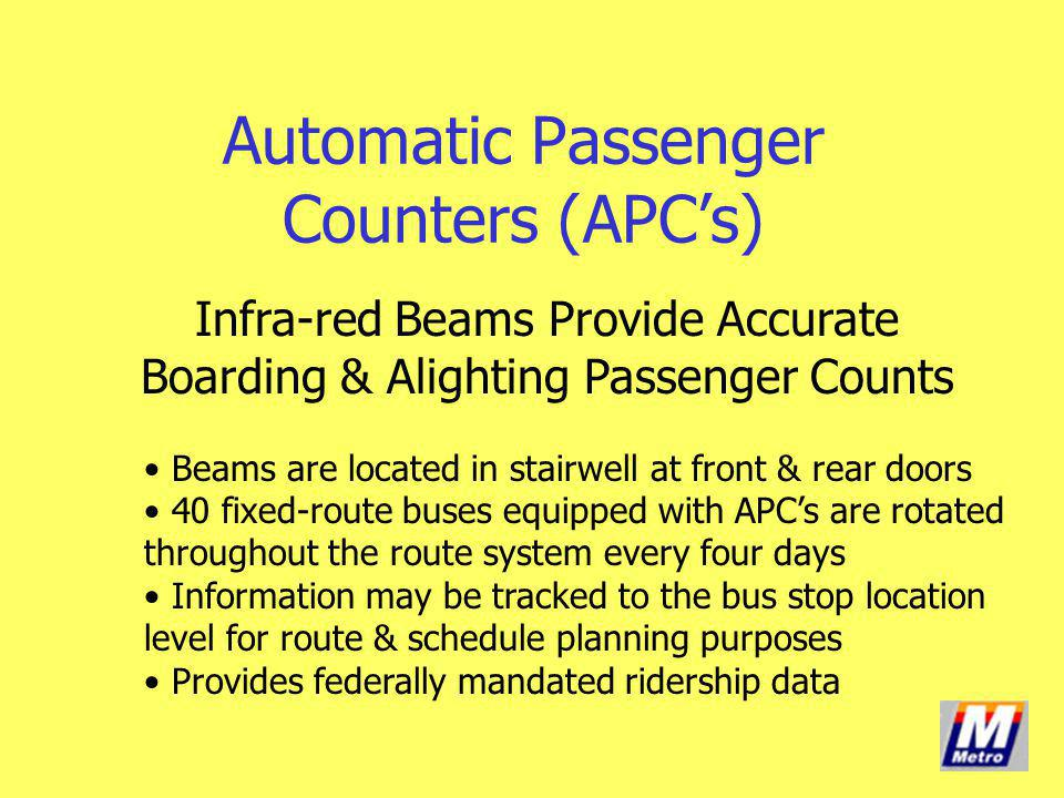 Automatic Passenger Counters (APC's)