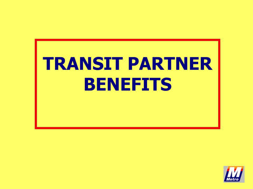 TRANSIT PARTNER BENEFITS