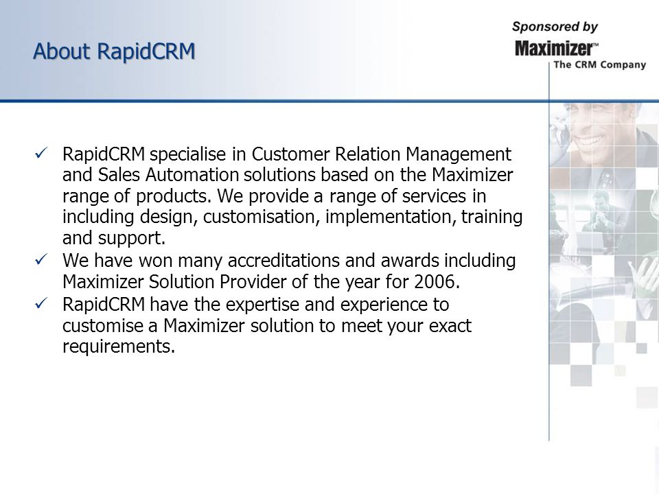 About RapidCRM