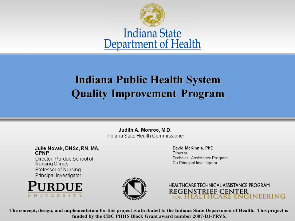 Indiana Public Health System Quality Improvement Program