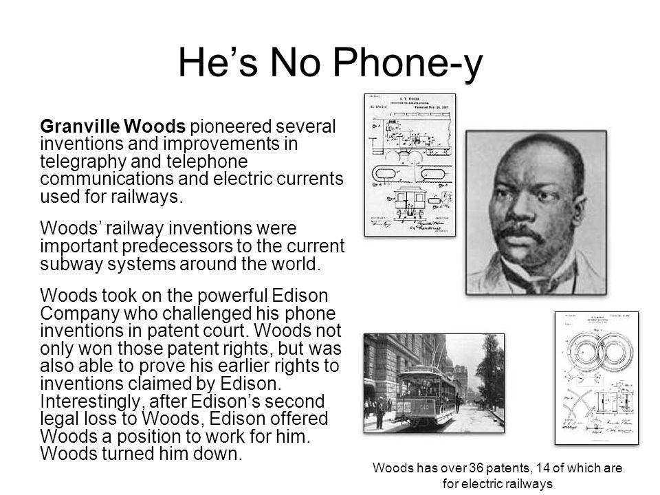 Woods has over 36 patents, 14 of which are for electric railways