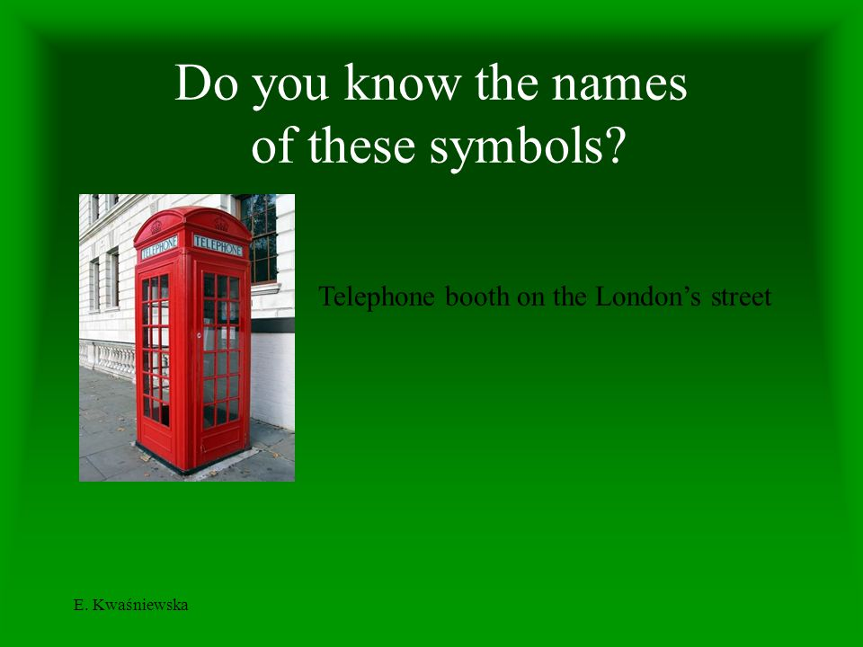 Do you know the names of these symbols