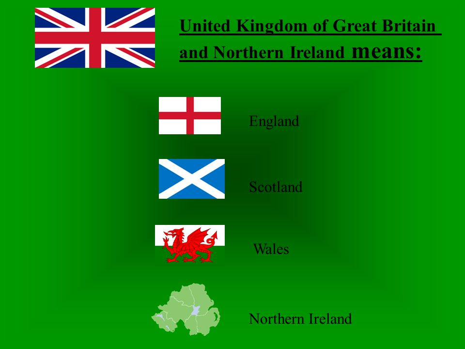 United Kingdom of Great Britain and Northern Ireland means: