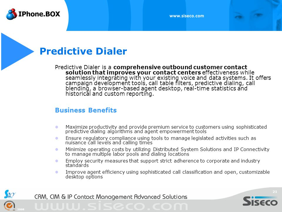 Predictive Dialer Business Benefits