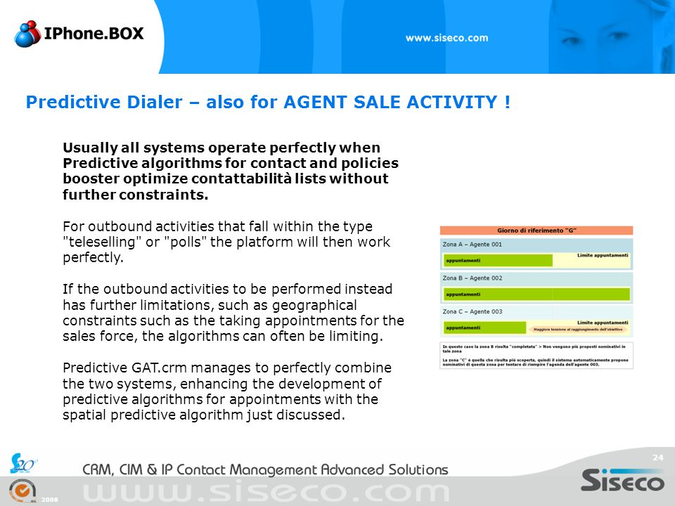 Predictive Dialer – also for AGENT SALE ACTIVITY !