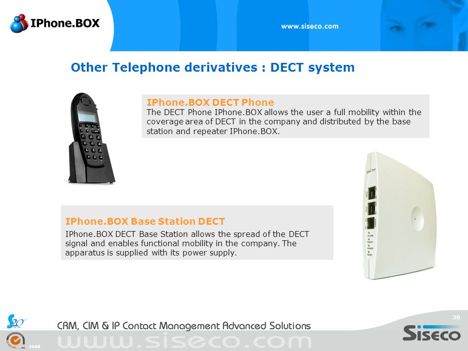 Other Telephone derivatives : DECT system