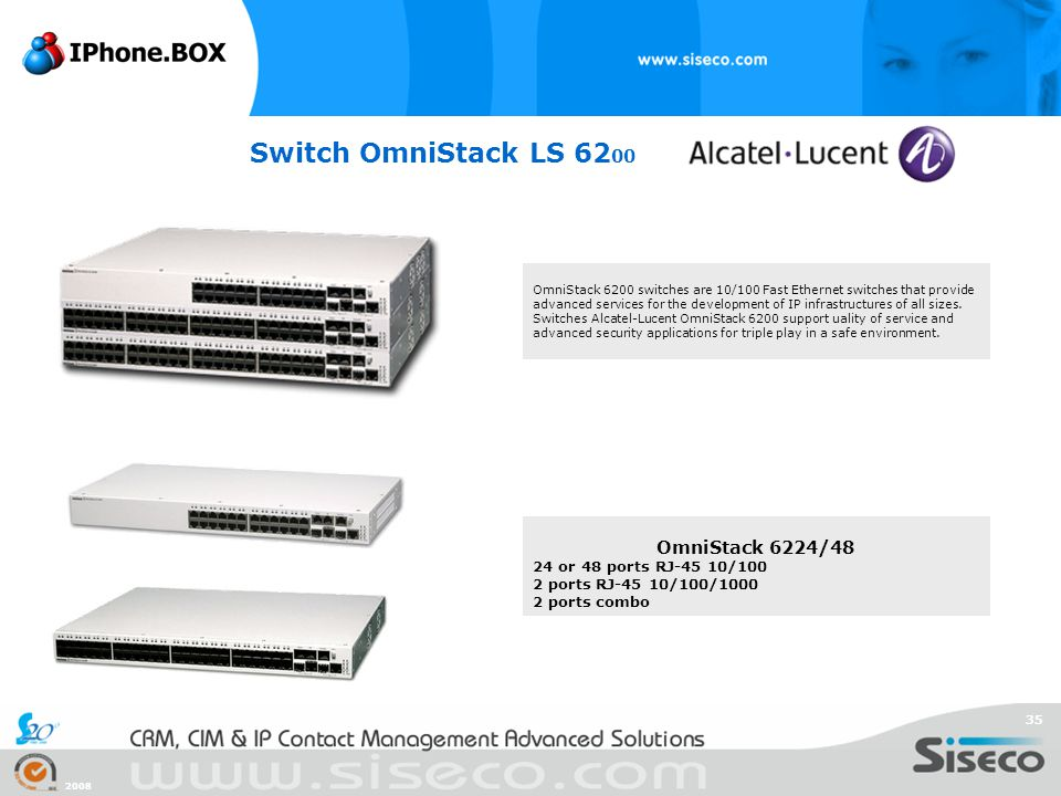 Switch OmniStack LS 6200 OmniStack 6224/48 24 or 48 ports RJ-45 10/100