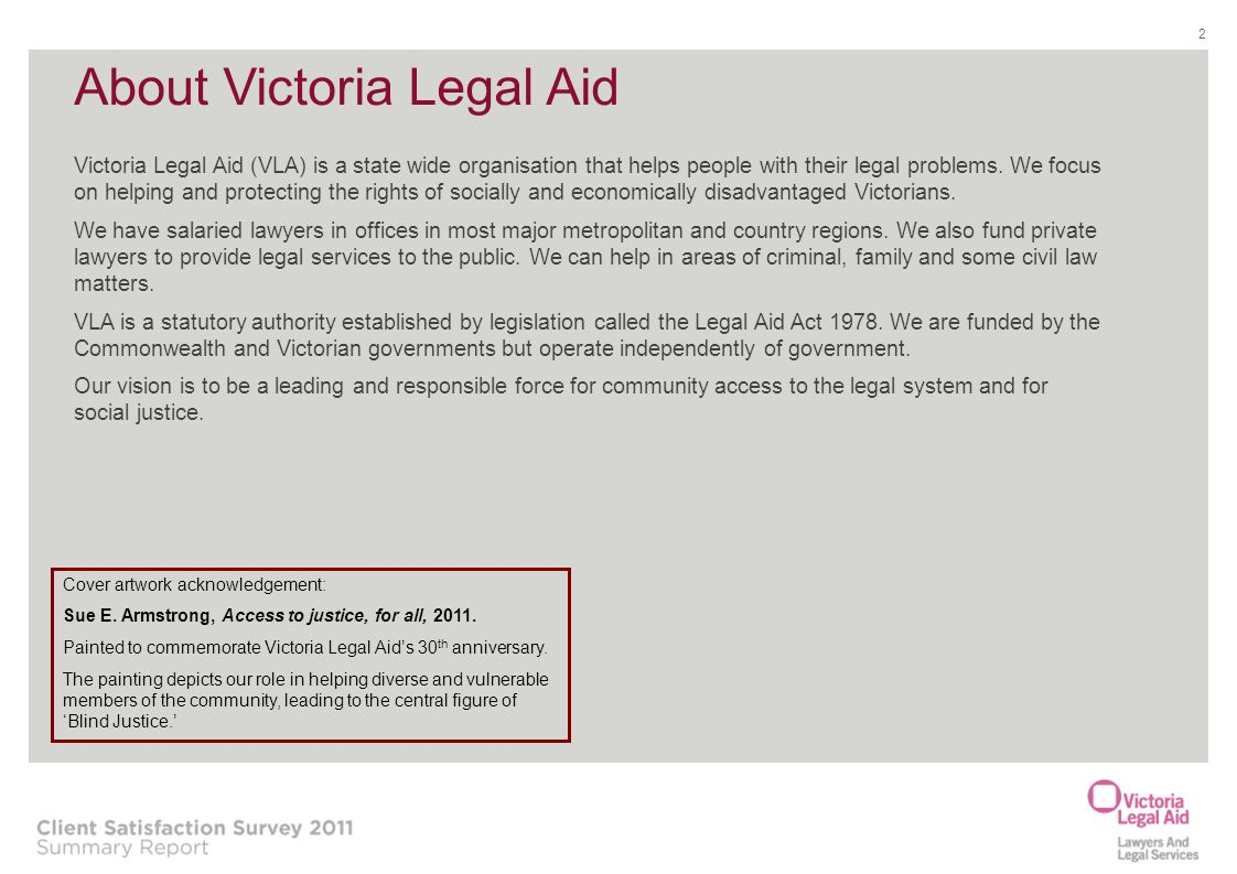 About Victoria Legal Aid