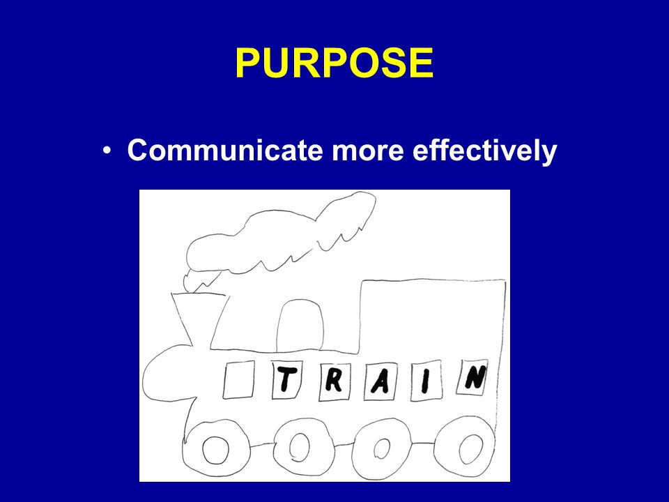 PURPOSE Communicate more effectively