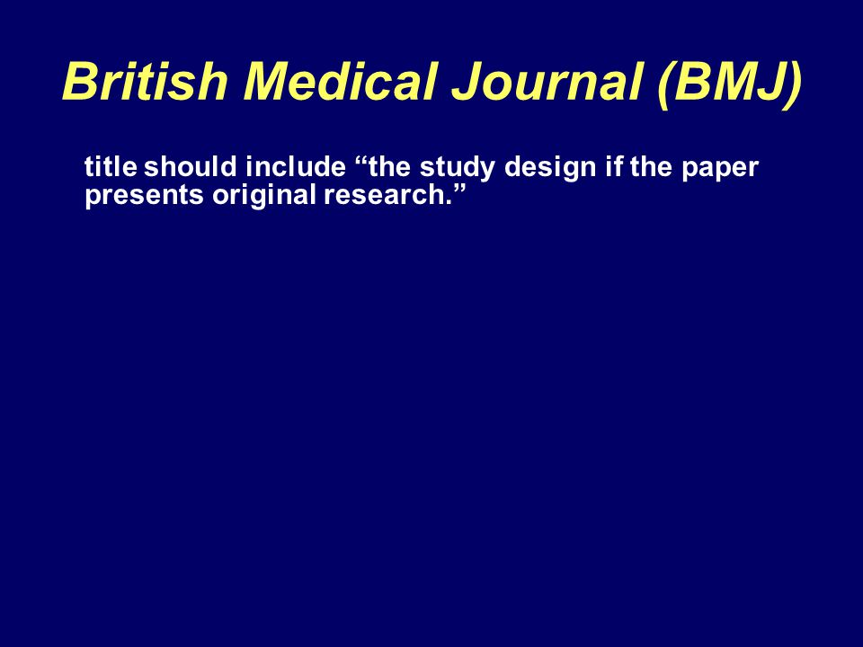 British Medical Journal (BMJ)