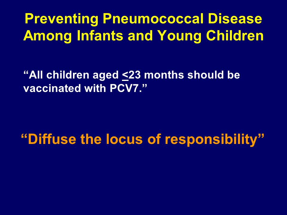 Preventing Pneumococcal Disease Among Infants and Young Children
