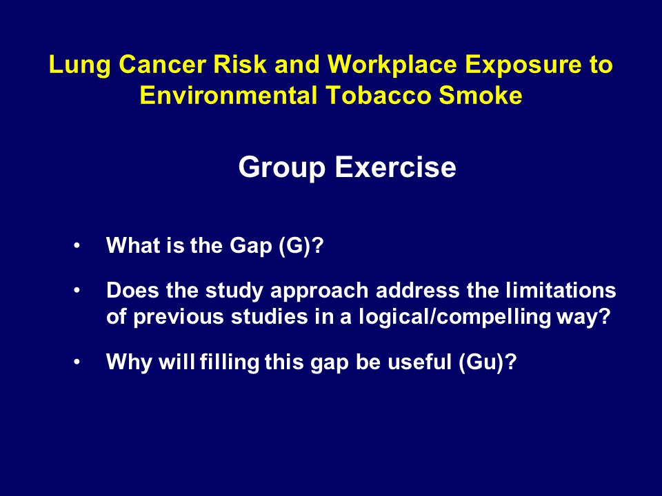Lung Cancer Risk and Workplace Exposure to Environmental Tobacco Smoke