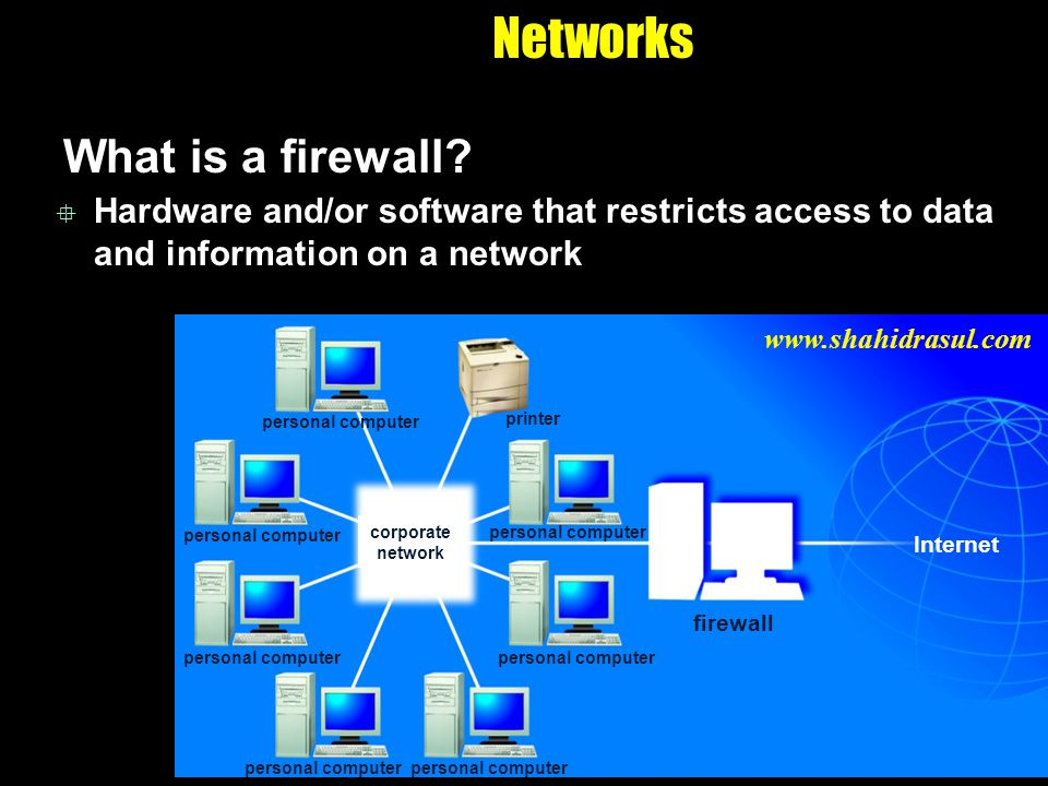 Networks What is a firewall