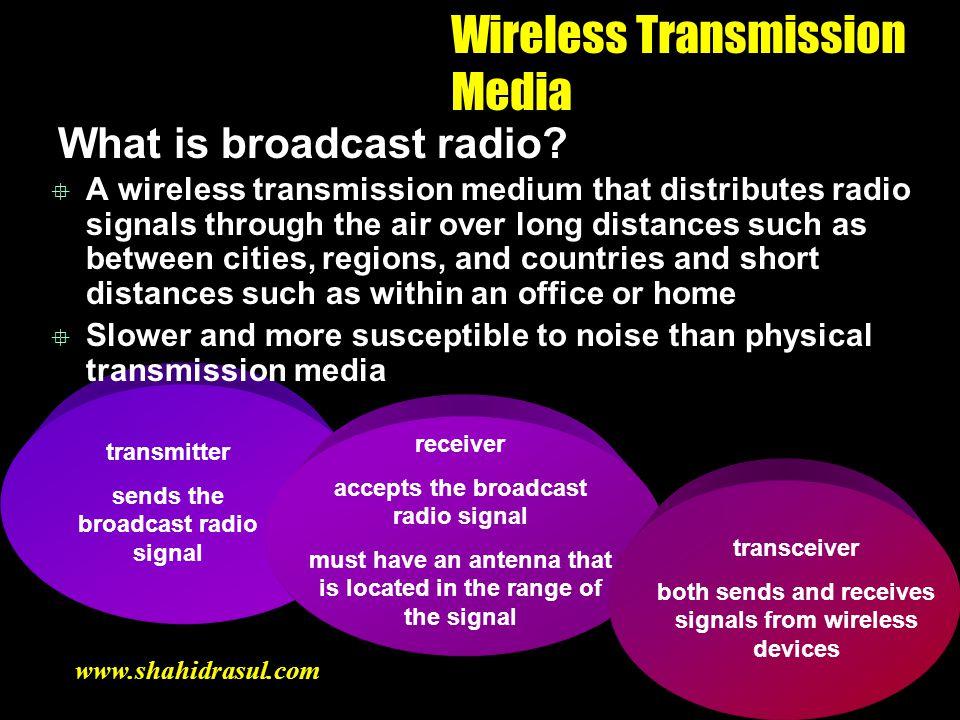 Wireless Transmission Media