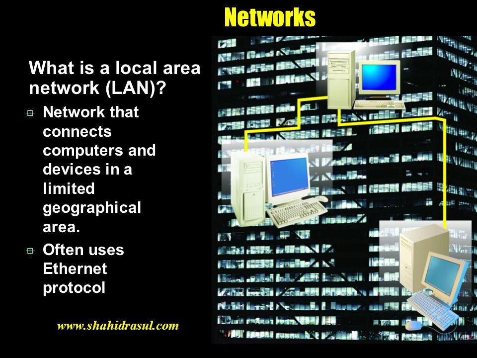 Networks What is a local area network (LAN)