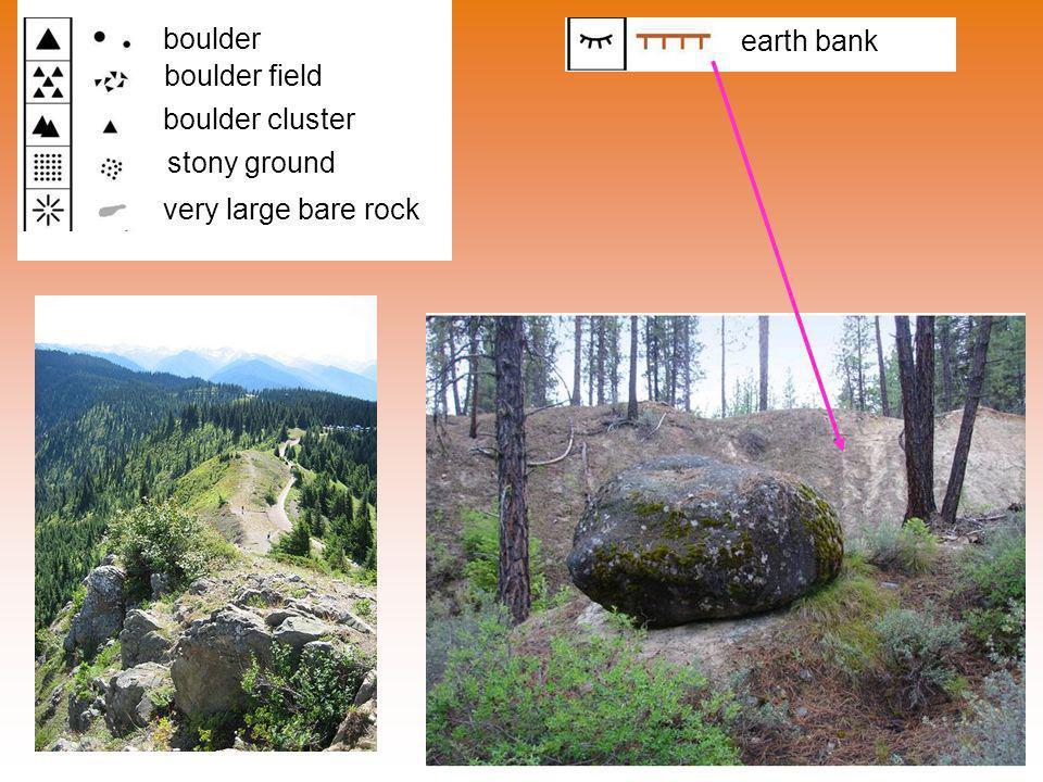 boulder earth bank boulder field boulder cluster stony ground very large bare rock